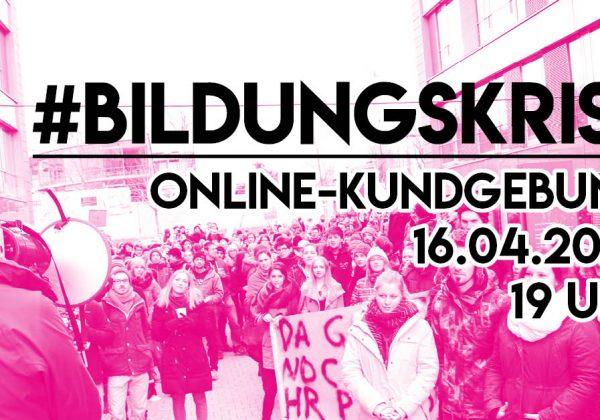 Online-Kundgebung #Bildungskrise