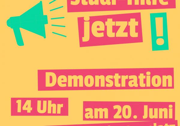 Demonstration am 20. Juni